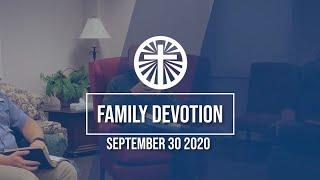 Family Devotion September 30 2020