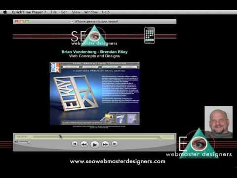 SEO Web Master Designers | Quicktime Presentation | iPhone Droid PC