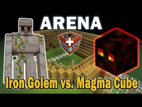 Minecraft Arena Battle Iron Golem vs. Magma Cube