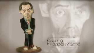 Figura de papel maché del Dr. House