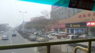 Puyang China  city images : Bus Ride In Streets of Puyang China, Typical Day, Huanghe Road