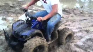 5. Mudding with a 125cc ATV