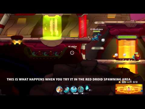 Awesomenauts - Getting into the Droid Spawning Area! - [Bug]