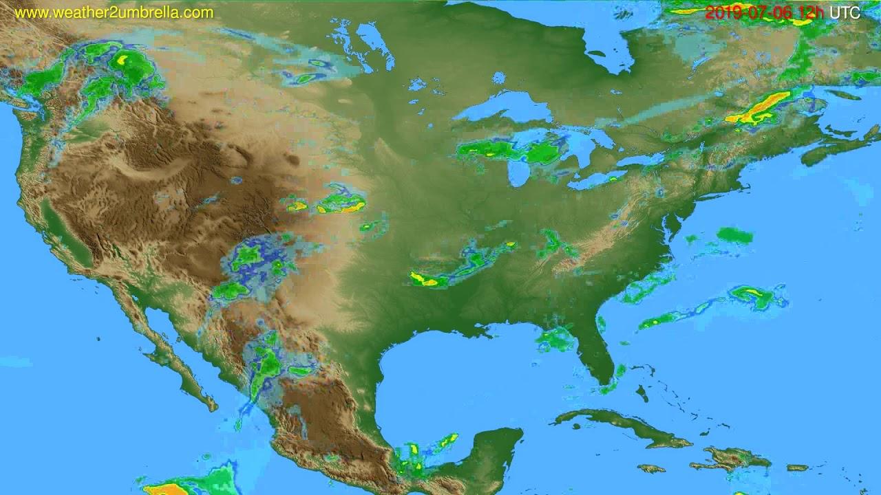 Radar forecast USA & Canada // modelrun: 00h UTC 2019-07-06