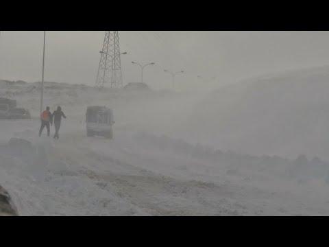 Algerien: Schnee und Regen fordern 2 Todesopfer