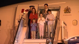 Prime Minister Justin Trudeau and family arrive in India for week-long visit