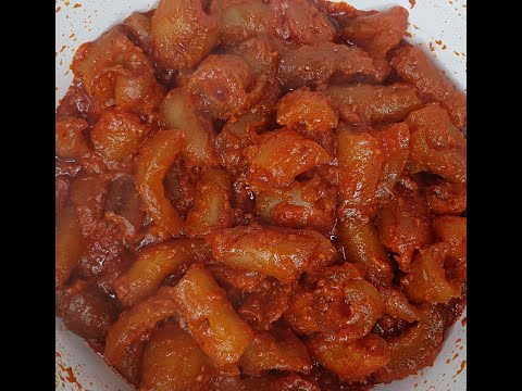 A Must Try Cow Skin Recipe / Spicy Canda Sauce / kpomo