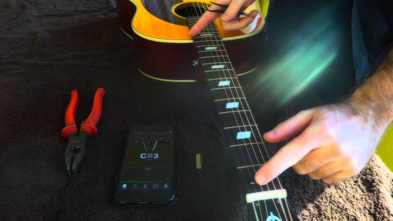 Quick acoustic guitar intonation FIX !!