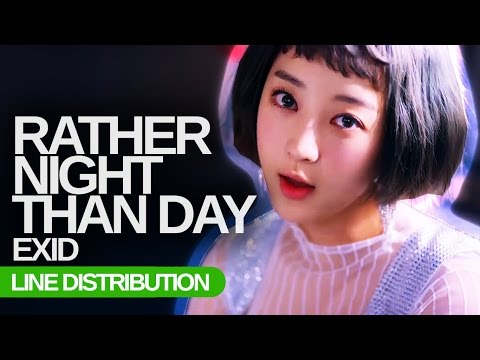 Video EXID - Night Rather Than Day : Line Distribution (Color Coded) download in MP3, 3GP, MP4, WEBM, AVI, FLV January 2017