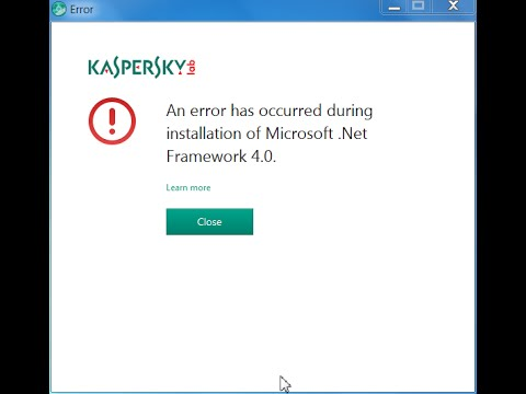 How to Install kaspersky 2015 / 2016 | Solve DotNet install error in Xp, 7, 8 and 10