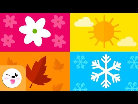 Le stagioni dell'anno per bambini - Quali sono le stagioni? - Primavera, Estate, Autunno e Inverno