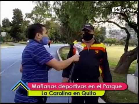 Mañana deportivas en el parque La Carolina en Quito