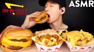 ASMR EXTRA CHEESY ANIMAL STYLE FRIES & DOUBLE DOUBLE MUKBANG (No Talking) EATING SOUNDS