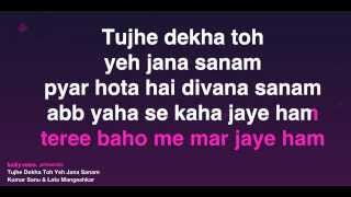 Video Tujhe Dekha Toh Yeh Jana Sanam (Karaoke) MP3, 3GP, MP4, WEBM, AVI, FLV Agustus 2018