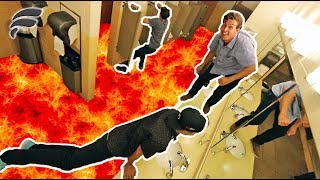FLOOR IS LAVA GAME IN PUBLIC RESTROOM!