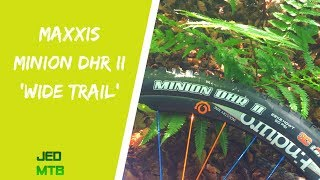 A look at some Maxxis Minion DHR II 'Wide Trail' tyres.