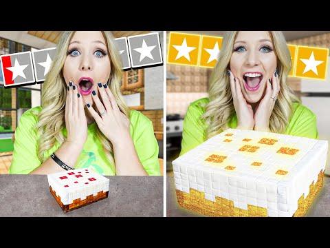 1 Star vs 5 Star MINECRAFT Food! - Challenge