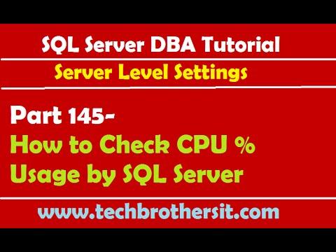 SQL Server DBA Tutorial 145-How to Check CPU % Usage by SQL Server