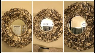 Dollar Tree DIY || Gold Rose Petal Wall Mirror