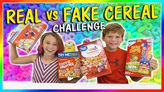 """Kayla and Tyler do the """"Fake vs Real Cereal"""" challenge where they have to figure out which brand of cereal they are eating and if it's the legit one or a knock off. This was super fun! Subscribe https://www.youtube.com/c/wearethedavises?sub_confirmation=1Our mailing address:We Are The Davises28241 Crown Valley Pkwy Suite F #613Laguna Niguel, CA 92677""""We Are The Davises"""" is an entertaining family vlog channel based in Florida. Our daily videos show our real life moments, challenges, funny skits, and traveling adventures. Shawn is an outstanding father and husband that enjoys coaching children in team sports like football and wrestling. Connie is very creative with our channel as she makes everything in our lives as fun and entertaining as possible while still molding our kids into the amazing people they are today. Kayla is currently 12 years old. Her passion is competitive cheer leading and loves all animals from fluffy puppies to the little frogs. Tyler is 11 years old and is obsessed with playing video games and team sports such as football. We are excited to share our fun filled journey!Check out our gaming channel We Are The Davises Gaming if you love gaming videos.https://www.youtube.com/channel/UCShsPtvK0WzxjljpN4rhVzgPlease be sure to check out all of our social media platforms that we have listed below for you.Twitter:  https://twitter.com/wearethedavisesFacebook:  https://www.facebook.com/wearethedavises/Instagram: https://www.instagram.com/wearethedavises/Google+: https://plus.google.com/u/0/+WeAreTheDavises2016/postsSnapchat:  https://www.snapchat.com/add/wearethedavisesMusical.ly:  wearethedavisesDo you like certain types of videos? Come and check out the playlists that we have setup to make it easier for you to watch what you like.Here is a playlist of all our daily videos. https://www.youtube.com/playlist?list=PL1SgveIsSpIqtjNq-QnGHSHxv410nkJfyThis playlist was put together specifically for all you Kayla fans.https://www.youtube.com/playlist?list=PL1Sg"""
