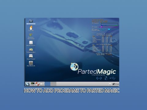 How to add programs to parted magic