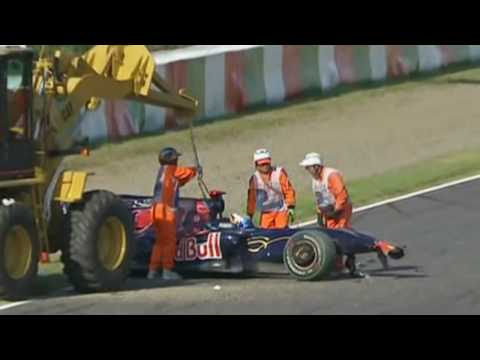 Jaime Alguersuari - accidente en Suzuka, Japón 2009