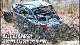 7. Axle Carnage Feature Length Trail Ride - Polaris, Can-Am, Yamaha, Arctic Cat #TeamAJP Trail Vlog 008