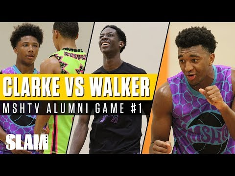 Kyree Walker Vs Terrence Clarke!! MSHTV Camp ALUMNI Game 1 | SLAM Highlights