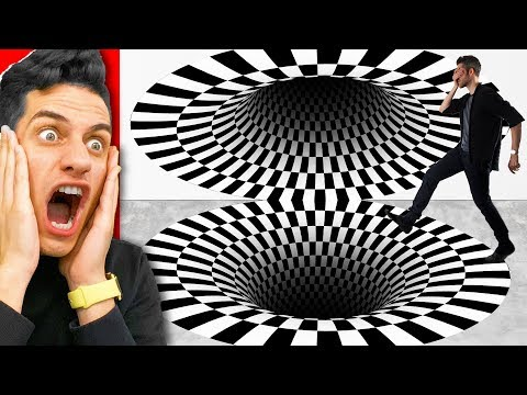 3D ILLUSIONS THAT WILL TRICK YOUR EYES! (CHALLENGE)