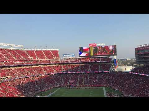 San Francisco 49ers VS Dallas Cowboys 08/09/2018 NATIONAL ANTHEM