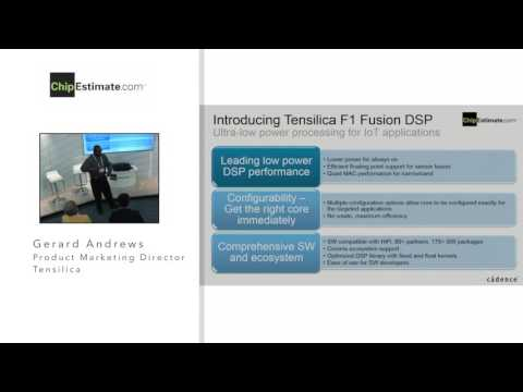 Choosing a DSP for IoT/Wearable Applications, Tensilica, IP Talks! DAC 2016