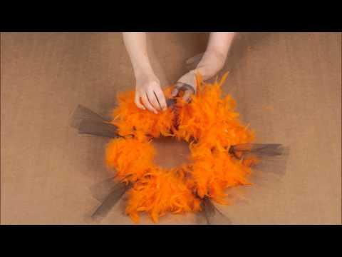 Decorazione di Halloween arancione: corona di Halloween
