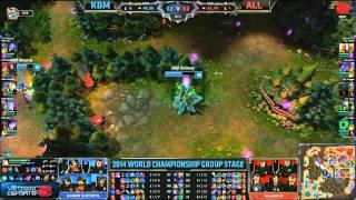 Kabum Esports Vs Alliance/Chung Kết Thế Giới Mùa 4 - Vòng Bảng - Bảng D (28-09-2014)