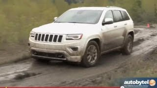 2014 Jeep Grand Cherokee Overland  Off-Road Test Drive&SUV Video Review