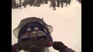 1. Polaris 2003 RMK 700 in 1 foot of powder