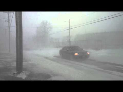 March 26 2014 Snowstorm hits Nova Scotia - Filmed  in Meteghan NS