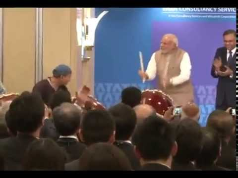 japanese - The Prime Minister, Shri Narendra Modi shares a lighter moment with Japanese ceremonial drummers, at the inauguration of the TCS Japan Technology and Cultural Academy, in Tokyo, Japan on September...