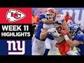 Chiefs vs Giants | NFL Week 11 Game Highlights