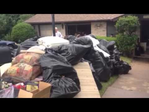 Truck arrives for Foreclosure Eviction