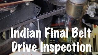 7. Indian Motorcycle Final or Secondary Belt Drive Inspection | Motorcycle Biker Podcast