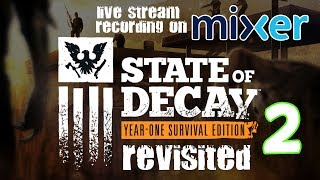 Here is the 2nd video for my State Of Decay Year One Survival Edition revisited series this again was a live stream next why not watch live see links below.Subscribe here for more Gaming Videos: http://goo.gl/JnMm2v.Don't forgot to click that notifications bell so you know when my next video is live  I Stream so come join The Barking Mad Society: https://mixer.com/krlbarkerhttps://twitch.tv/krlbarker Fancy spying on what I'm doing lately join my Twitter: https://twitter.com/KrlBarkerWant to stalk me on Xbox One well here's my GT: KrlBarkerJoin my Club on Xbox One and have a Chat: Search KrlBarkerIntro Creator: Dopemotionshttps://www.youtube.com/channel/UCgvrz9ioKv89HMyg42z4pyQEdited By: KrlBarkerFor more templates, visit www.velosofy.com! State of Decay is an action-adventure survival horror stealth video game developed by Undead Labs and published by Microsoft Studios. It places emphasis on how the player's leaderships skills fare against an onslaught of problems, such as diminishing survival resources, group trust and morale, zombie extermination, base defenses, and people's lives. The game also combines elements of shooters, stealth, role-playing and strategy games and the game challenges players to survive by exploring, scavenging, and fighting the undead.