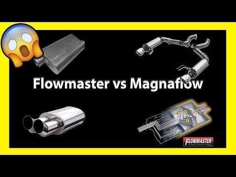 Flowmaster vs Magnaflow Sonido Mufflers (видео)
