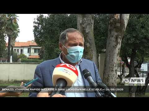 BENAZZI: «TAMPONE RAPIDO IN CLASSE O SARA' LOCKDOWN NELLE SCUOLE » | 24/09/2020
