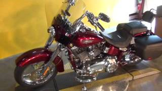 5. 2012 Harley-Davidson CVO Softail Convertible FLSTSE Motorcycle in Crimson Red Sunglo Scarlet Crystal