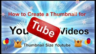 How to Create a Thumbnail  for Youtube Videos for free  Thumbnail Size Youtube  youtube thumbnail maker is a how to video that will show you how to create your own custom thumbnails that will attract more viewers to your videos as well as boost your ranking.https://youtu.be/8sXtAjvkKPohttps://www.youtube.com/channel/UCFBxyLMer62Dr4cmdMeQP4A
