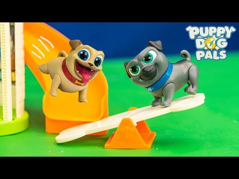 PUPPY DOG PALS Rolly And Bingo Puppy Doghouse Toy Unboxing