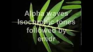 EMDR with preparatory alpha waves isochronic tones to bring you to a lower brainwave state. It adds more effectiveness to EMDR.Other EMDR videos:Brain Massage - Isochronic Tones Followed by EMDRhttp://youtu.be/8s_u-RtCgccIsochronic Tones Brainwave Entrainment - left and right Hemispheres http://youtu.be/4fl5ri8c2OsEMDR Self Administered with 528Hz Harmonics http://youtu.be/DALbwI7m1vMEMDR with Alpha Isochronic Tones - Self Administered http://youtu.be/TB8t1A8MRg8EMDR Self Administered with Alpha Isochronic Toneshttp://youtu.be/RY8EA6DSCz4