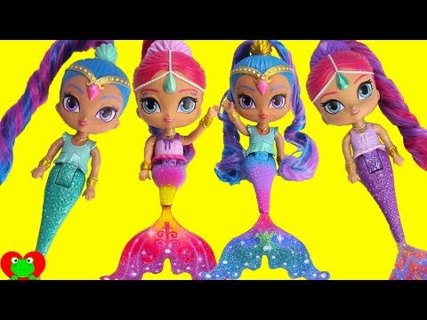 Shimmer And Shine Rainbow Zahramay Color Changing Mermaids Ultra Rare Glamstronaut