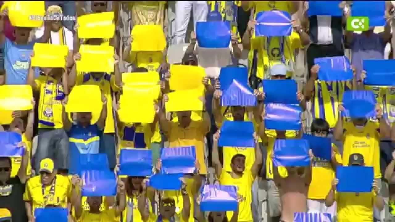 Orgullo máximo – ASCENSO de UD LAS PALMAS 2015 – Estadio de Gran Canaria en pie