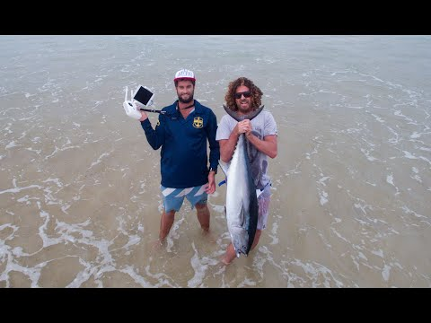 These Guys Use A Drone To Assist Their Fishing Game... Land A Huge Tuna!
